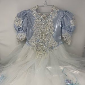 Other - pale blue puffy kids dress